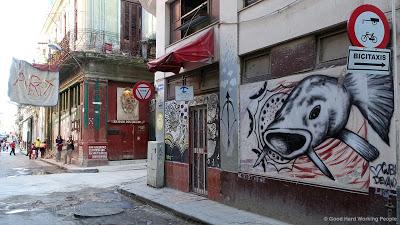 fish street art Havana Cuba